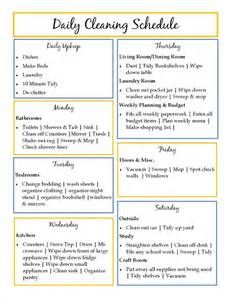Cleaning Schedule Template  Yahoo Image Search Results  Cleaning