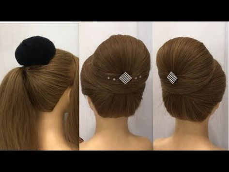 Beautiful Hairsytle for party or Wedding | Hairstyle with Trick | Easy Hairstyles
