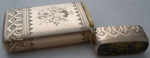Fantastic American Gold Rush 14kt Gold Quartz Match Safe Vesta C 1880 | eBay