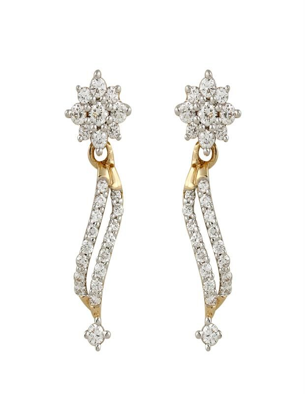 Designer Diamond Earring Diamonds4you Is A Beautiful Earrings With 52 Round Diamonds Jewellery