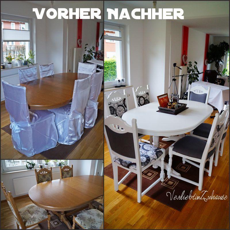 tisch und alte st hle neu gestalten und versch neren. Black Bedroom Furniture Sets. Home Design Ideas