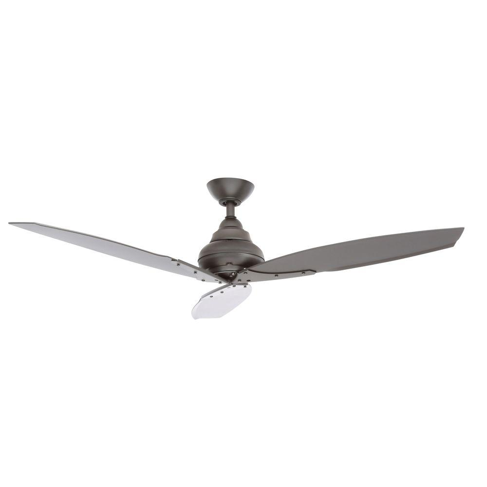 Hampton Bay Florentine Iv 56 In Indoor Outdoor Natural Iron Ceiling Fan With Wall Control Ac299 Ni Ceiling Fan Ceiling Fans Without Lights Brushed Nickel Ceiling Fan