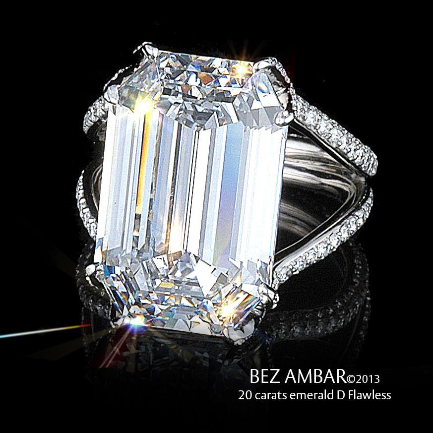 Custom Emerald Engagement Ring 20 Carat D Flawless White Stone Ring Custom Engagement Ring Ring Trends