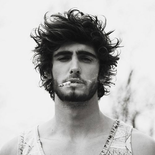 Great Messy Hair   Long Punk Hairstyles For Guys