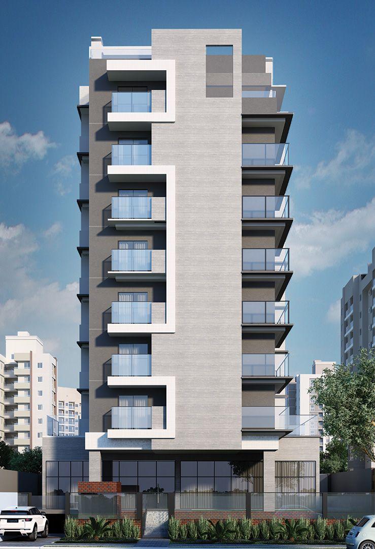 Maquete eletr nica fachada do empreendimento residencial for Fachadas de edificios modernos