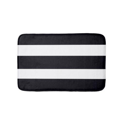 BATH MATS Bath Mat Elegant Chic Black & White Stripes. Machine wash.Super soft under feet. Own this beautiful Bath Mat TODAY! Money Back Guarantee. Fast Worldwide shipping. $27.95