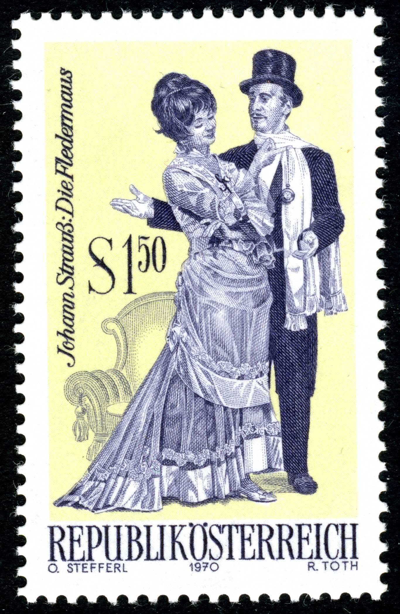 Austria issued 1970 engraved by Toth