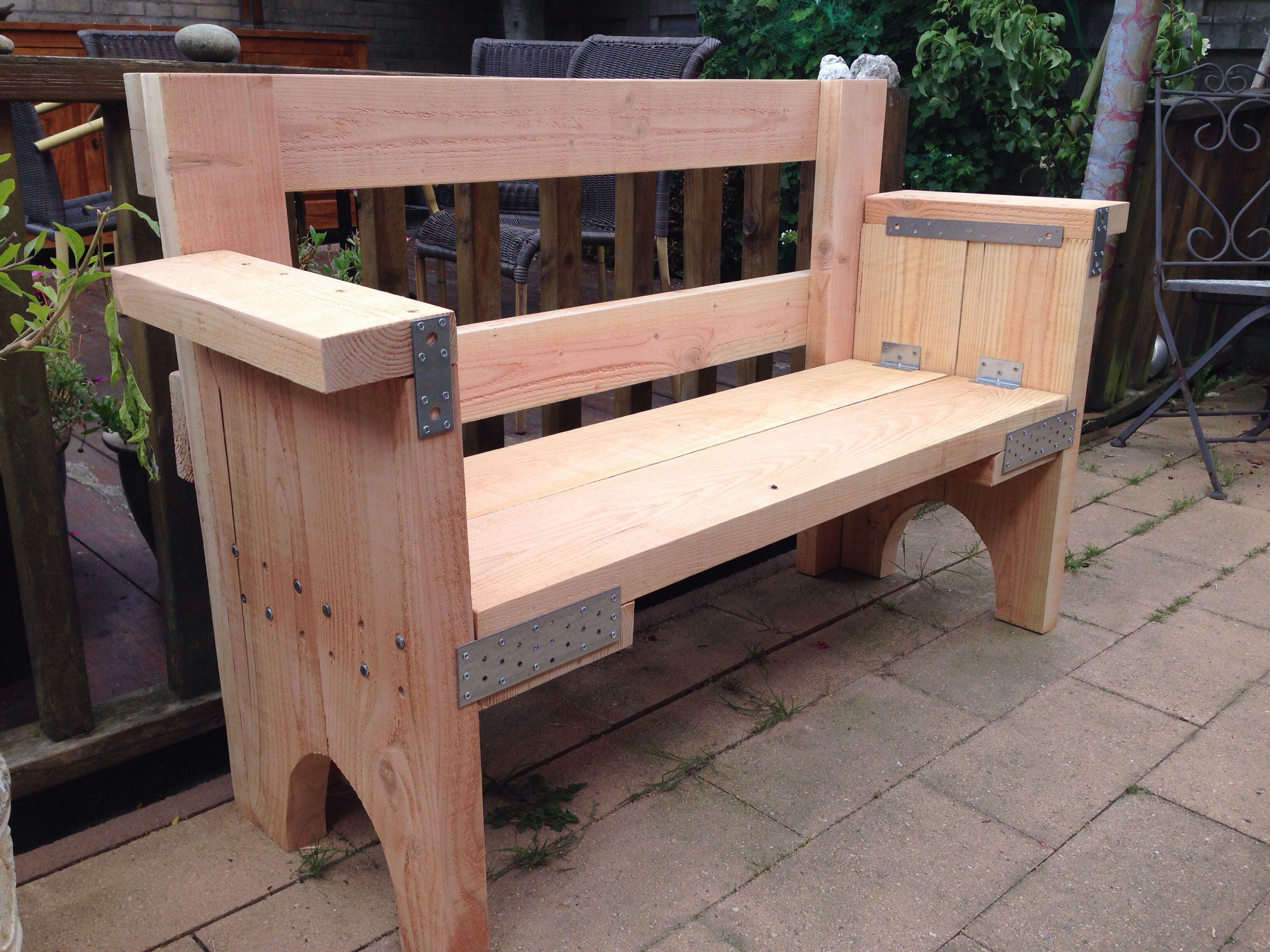 Robuust Bankje Van Douglashout Wooden Bench Banquinhos De