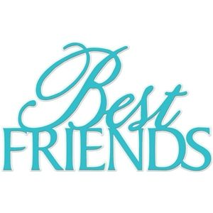 Silhouette Design Store Best Friends Word Phrase