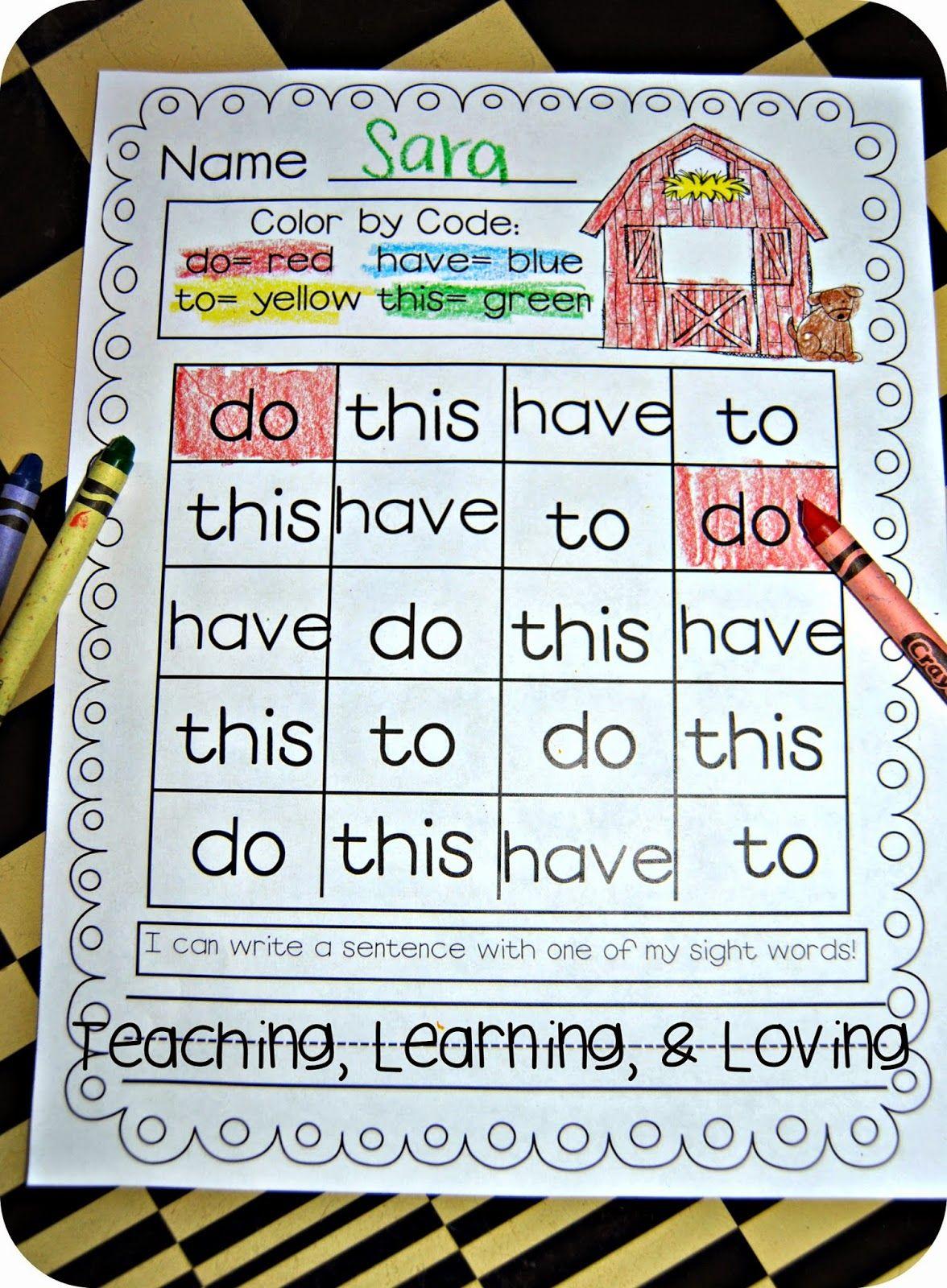 Workbooks kindergarten reading worksheets sight words : 25 Ways to Teach Sight Words! | Creative Classroom Ideas ...