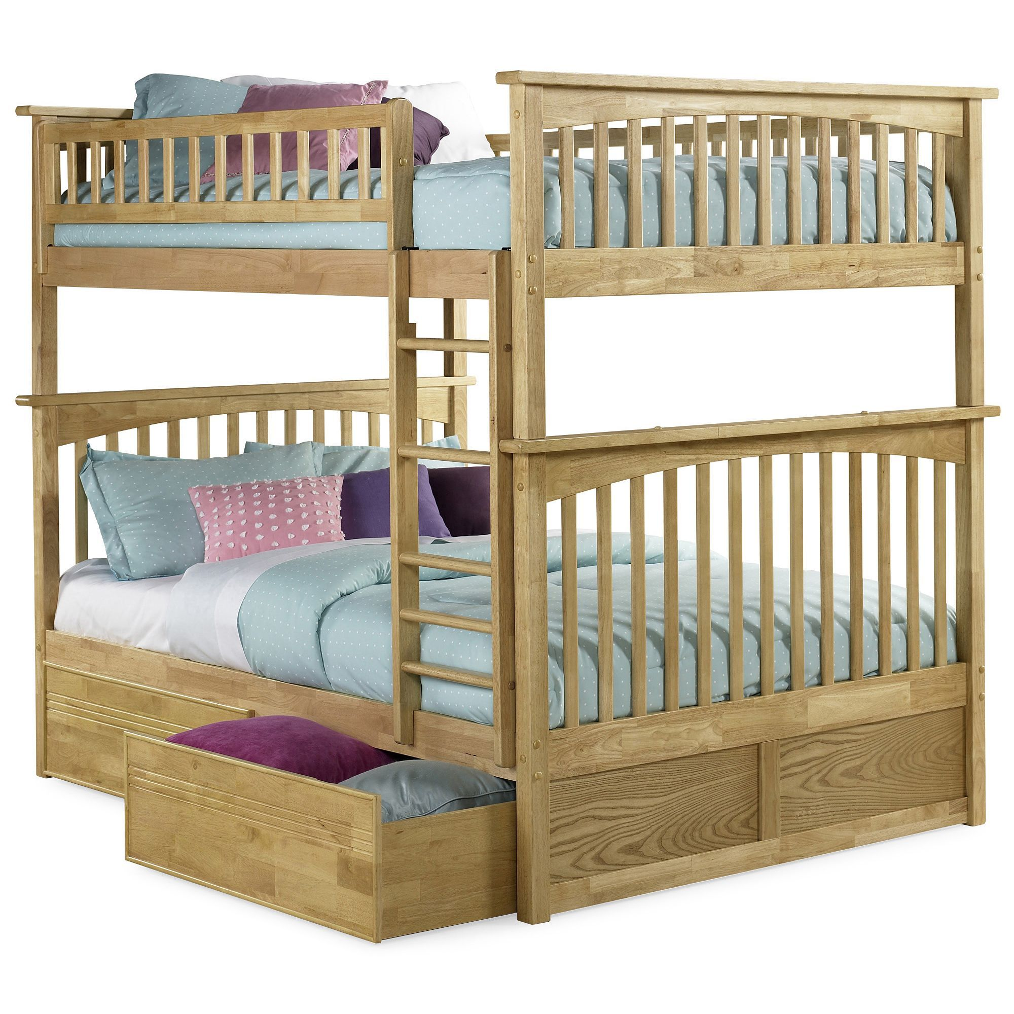 Atlantic Furniture Columbia Full over Full Bunk Bed with