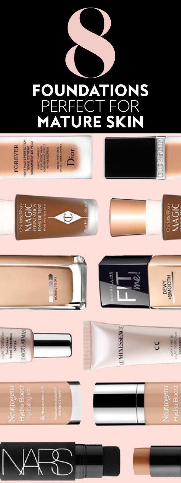 Foundation makeup for mature skin