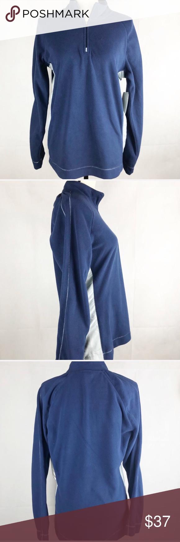 Alo Air Land Ocean Fleece Zip Blue Fleece Pullover NWT in My