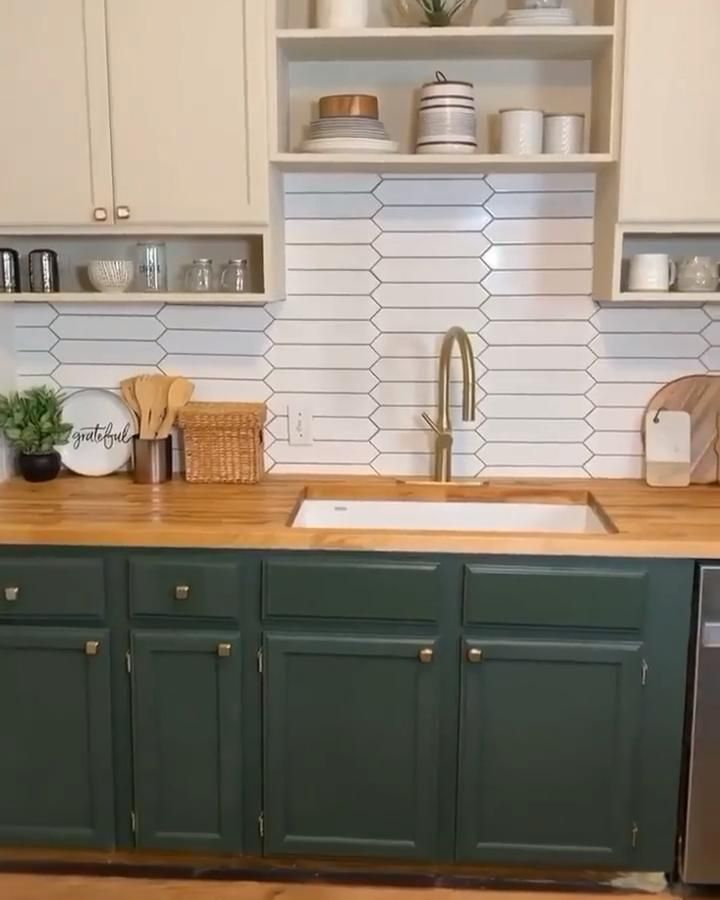 Amazing kitchen transformation via instagram @smas