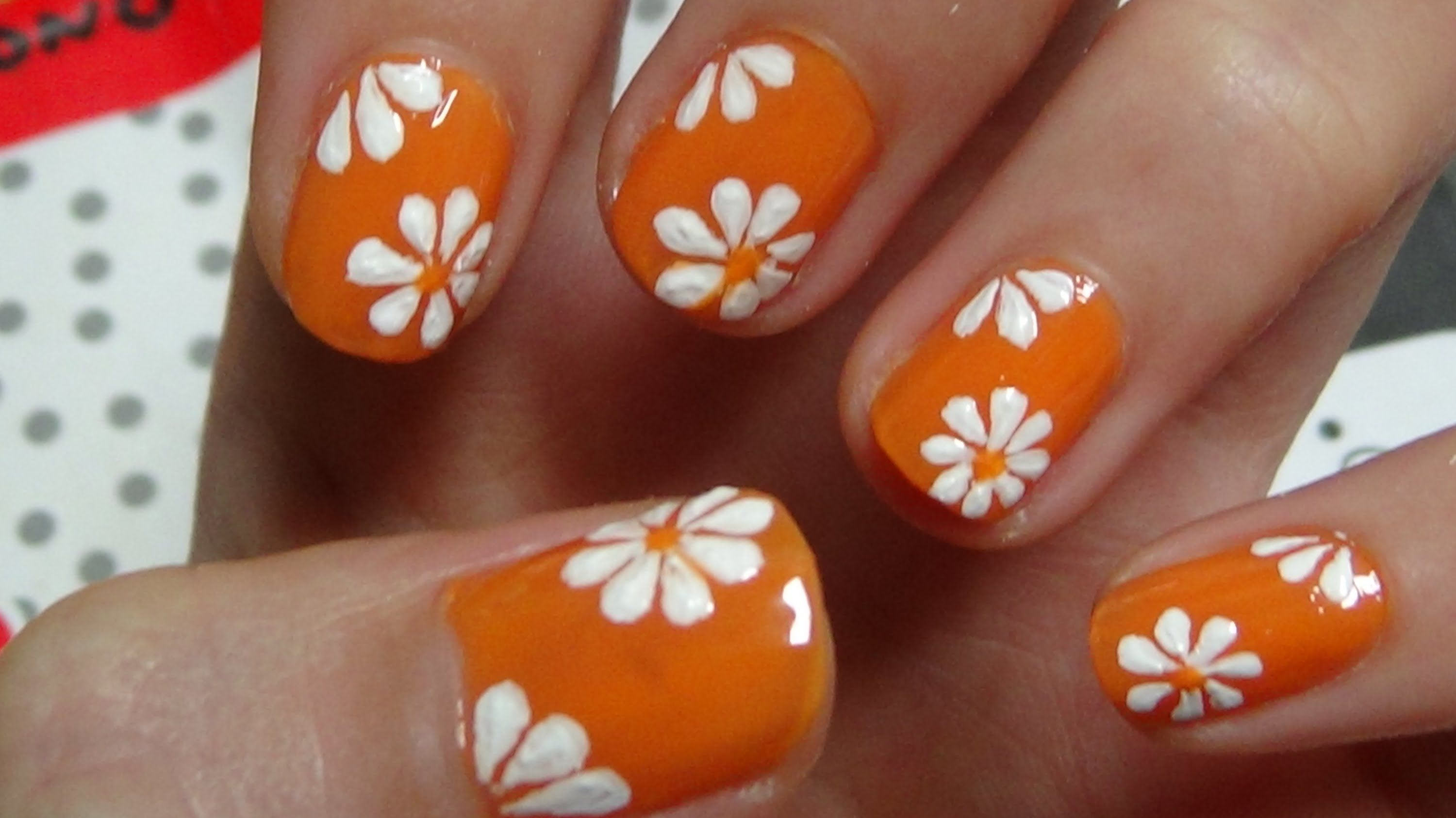 Easy Nail Art For Beginners Simlpe Cute Flower Using A Toothpick