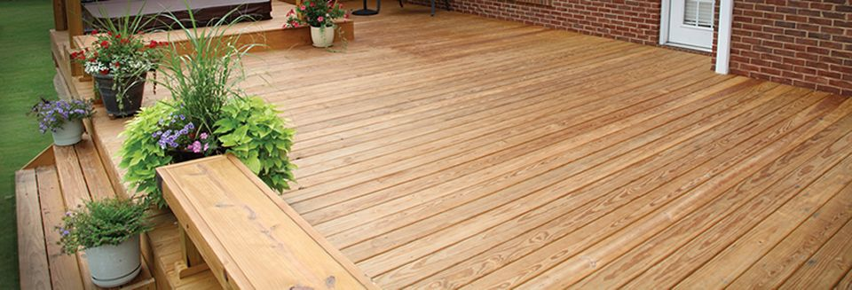 YellaWood Pressure Treated Decking is naturally beautiful