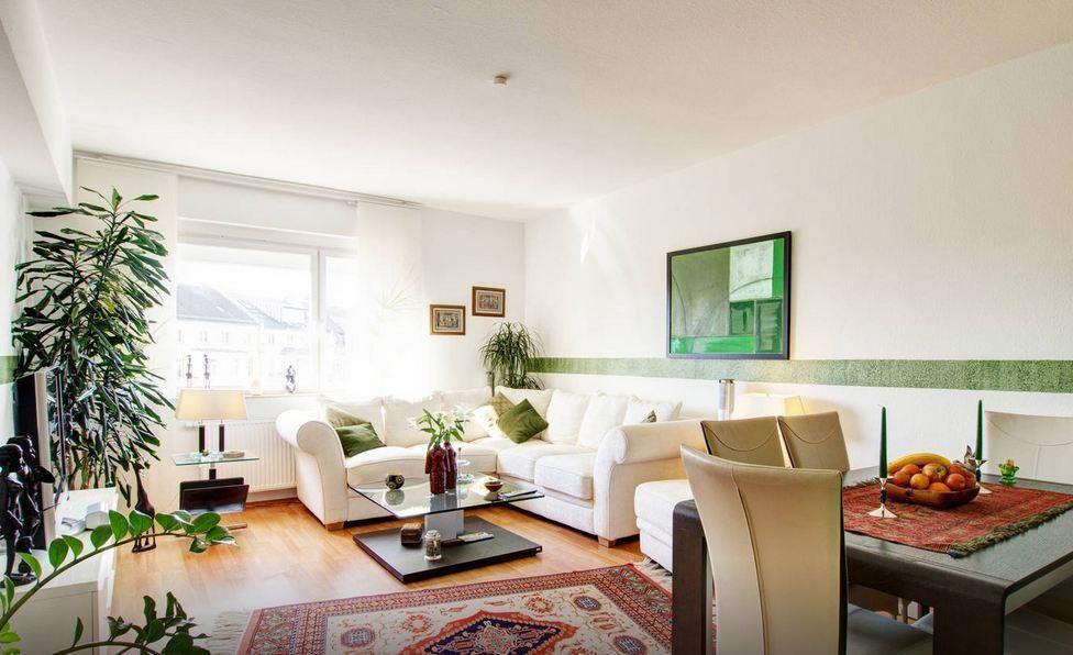 Genial Geräumiges Modernes Wohnzimmer In 2 Zimmer Wohnung In Frankfurt Am Main.  Wohnung In