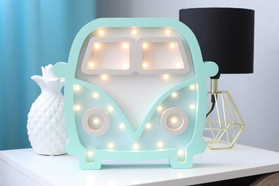 Babyzimmer Nightlight ~ Hippie bus night light marquee hippie mobile nightlight baby