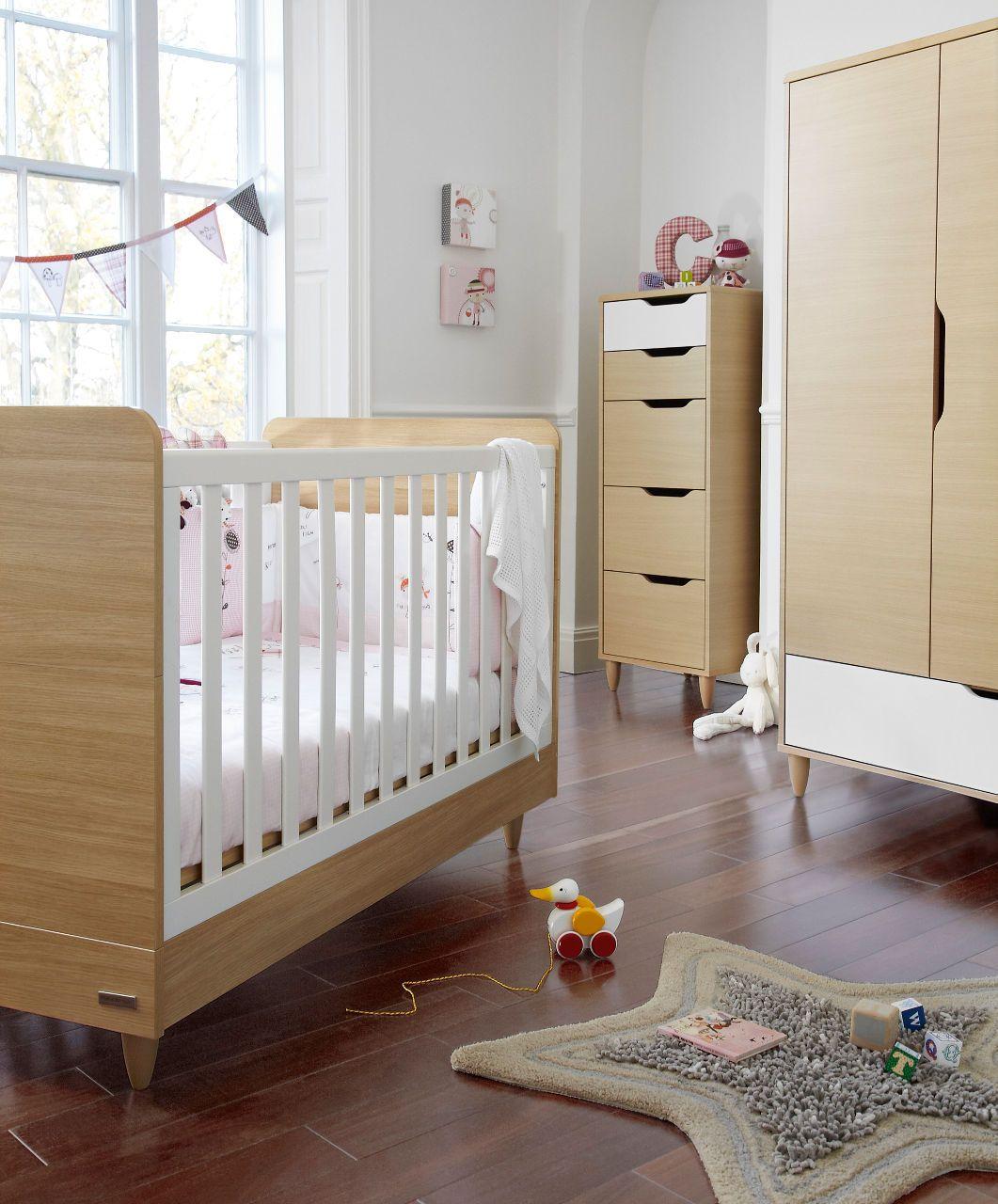 Manhattan Cot/Toddler Bed   Natural/White   Manhattan   Mamas U0026 Papas