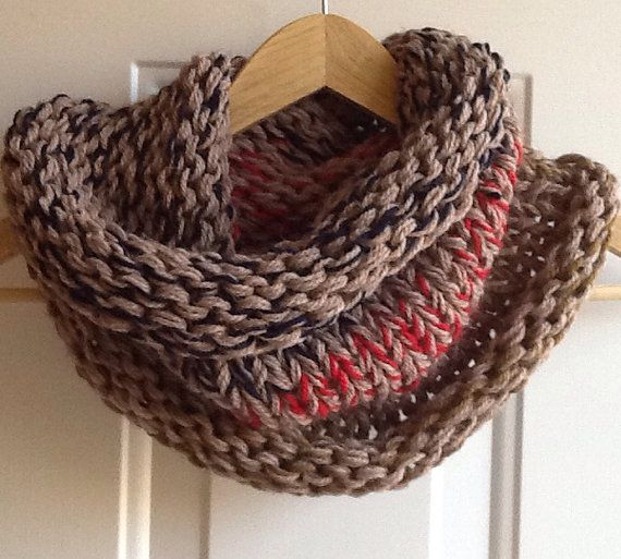 Wool chunky knit snood/cowl on Etsy, $25.00