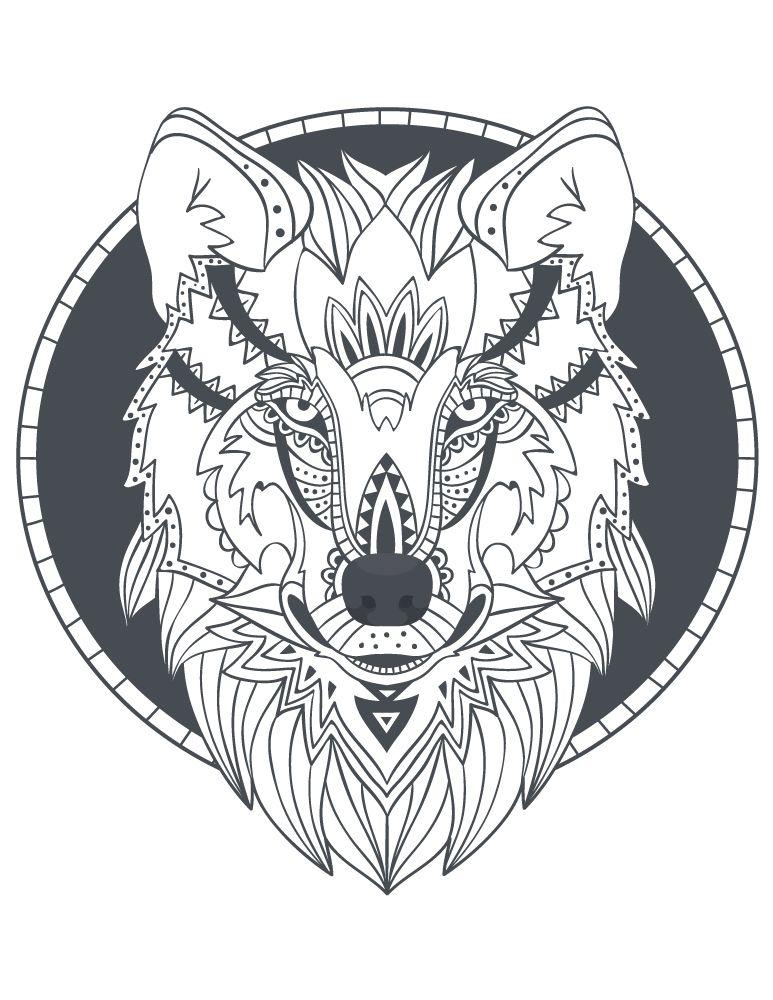 【Collections Populaires】 Coloriage à Imprimer Loup