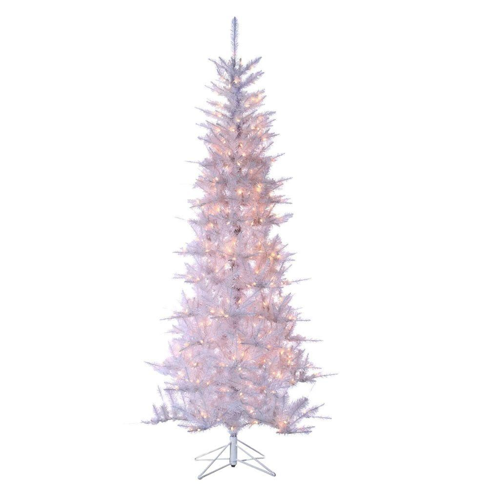 Sterling 7 5 Ft Pre Lit Tiffany White Tinsel Artificial Christmas