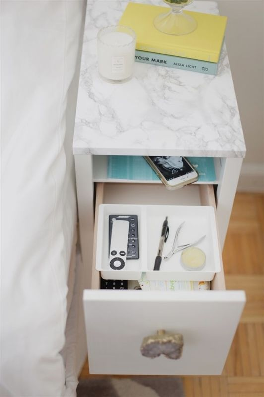 Bedroom Storage Ideas For Small Spaces Organizing Bedside Tables