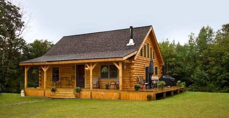 Swiftwater Log Cabin Plan by Coventry Log Homes, Inc.