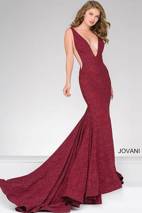6dcdebe47 Jade Fitted Plunging Neckline Gown 47075 | Fashion | Jovani dresses ...