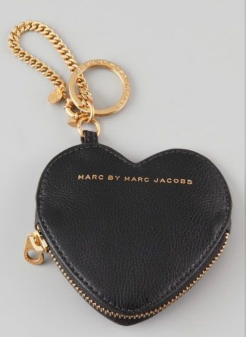 marc jacobs heart pouch keychain
