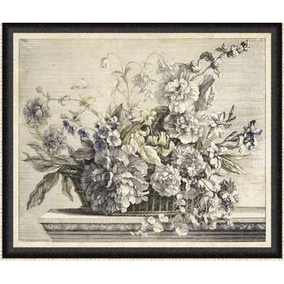 Ashton Wall Décor LLC In Bloom \'Vintage Basket of Flowers II ...