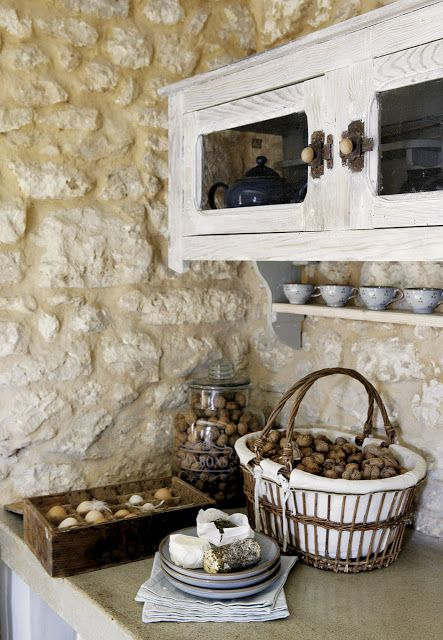 roses and rust: french farmhouse | primitive kitchen | pinterest - Küche Auf Französisch