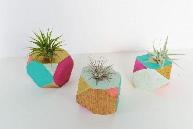 bricolage-facile-idee-deco-maison-pots-de-fleurs-bois-forme - Bricolage A La Maison