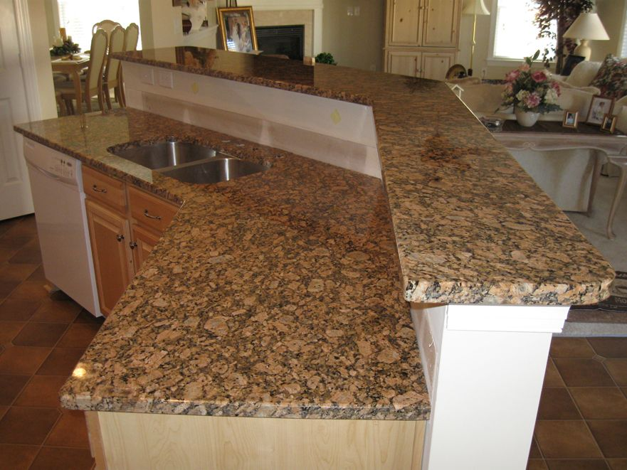 Giallo fiorito granite back splash pinterest for Granito santa cecilia