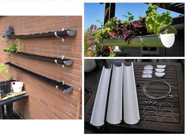 Verticale tuin met dakgoten diy! tuinieren met bakker gc