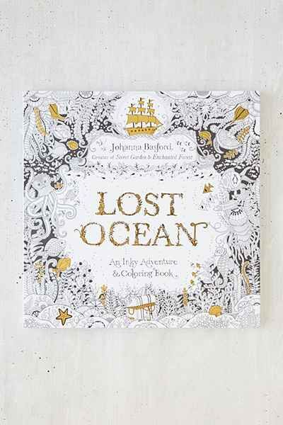 Lost Ocean An Inky Adventure Coloring Book By Johanna Basford Urbanoutfitters