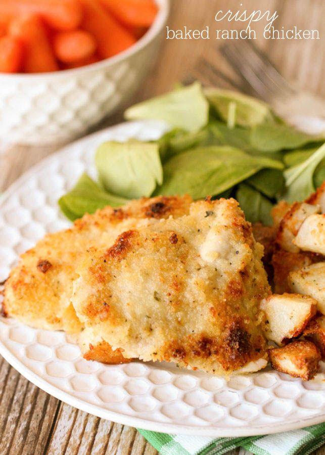 Crispy Baked Hidden Valley Ranch Chicken Lil Luna Recipe Baked Ranch Chicken Ranch Chicken Recipes Recipes