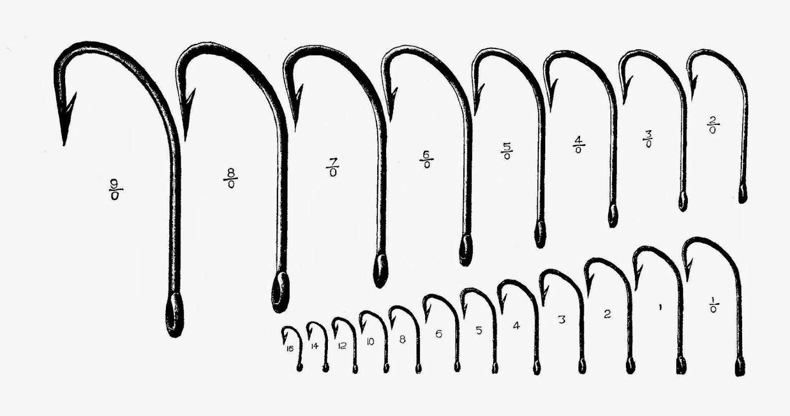 photo regarding Fly Fishing Hook Size Chart Printable identified as fish hooks No cost Printable ~ Black White Fish hook, Fly
