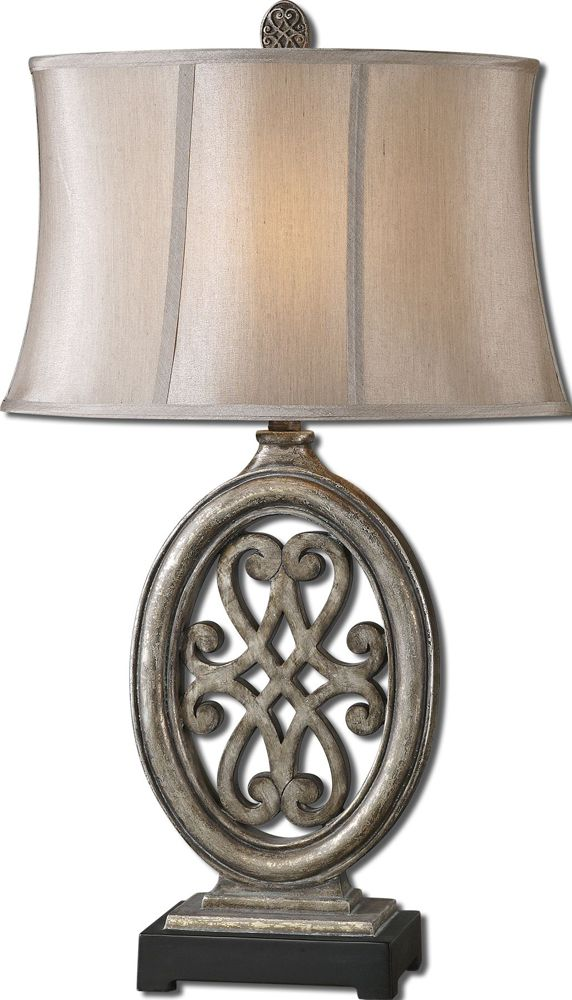 Barela Silver Table Lamp By Designer David Frisch From Uttermost Table Lamp Silver Table Lamps Traditional Table Lamps