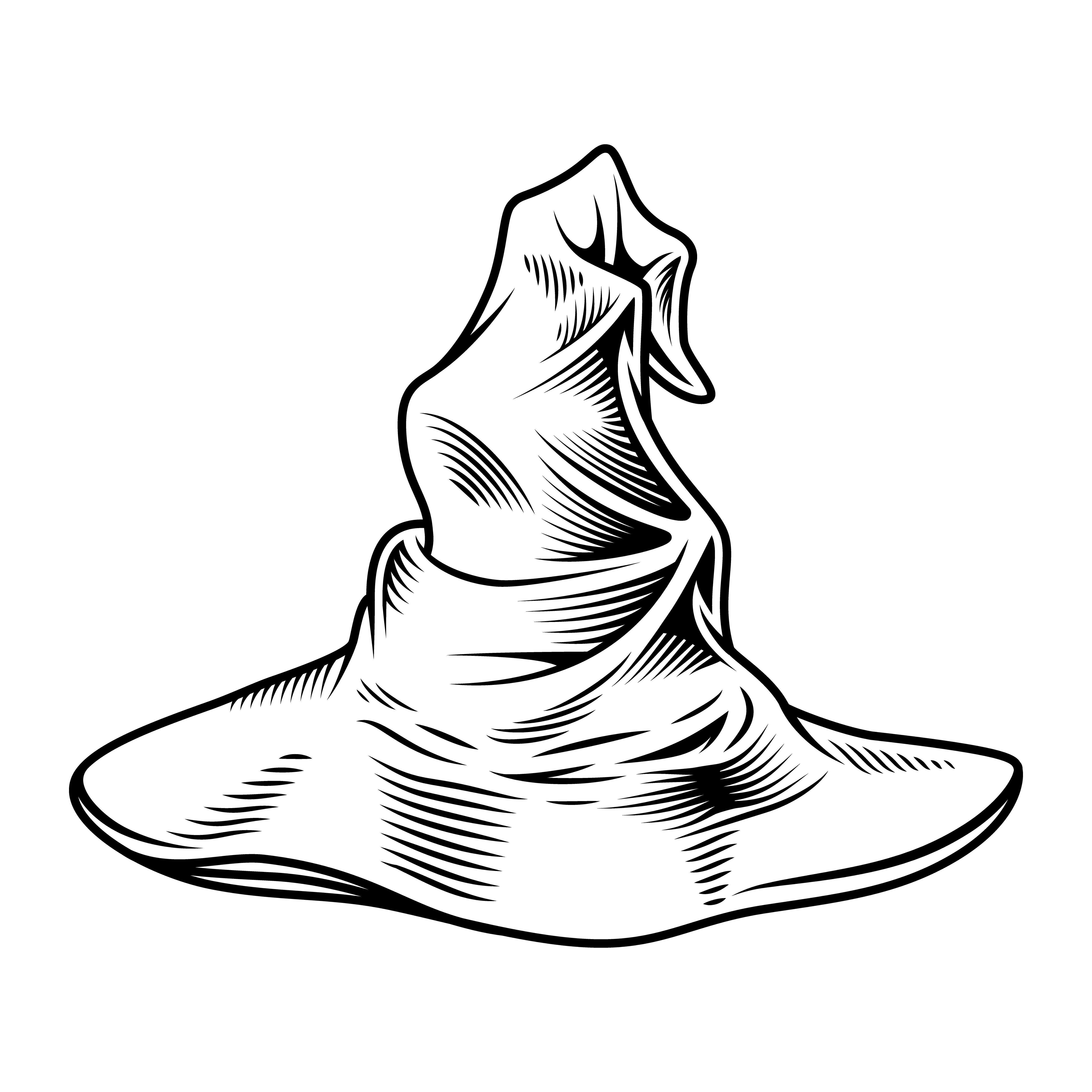 Magic Hat Illustration Hat Vector Hat Illustration Ink Sketch Ideas