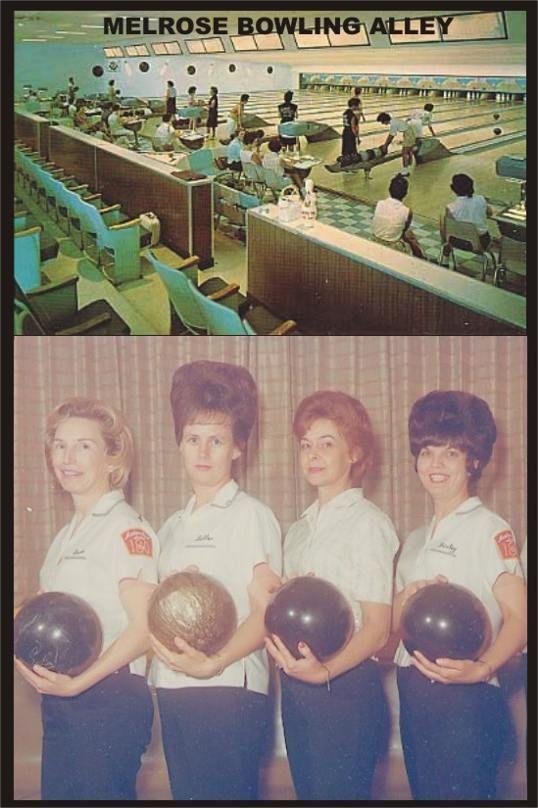 Melrose Bowling Alley Postcard Nashville Big Hair Bowling Bowling Team