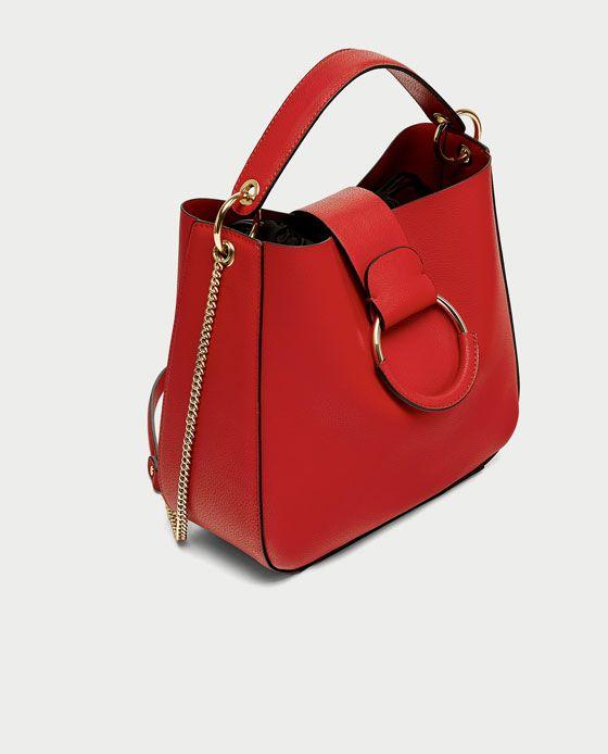 c92267d11c Image 3 of MEDIUM BUCKET BAG WITH HOOP from Zara | Bags of Style ...