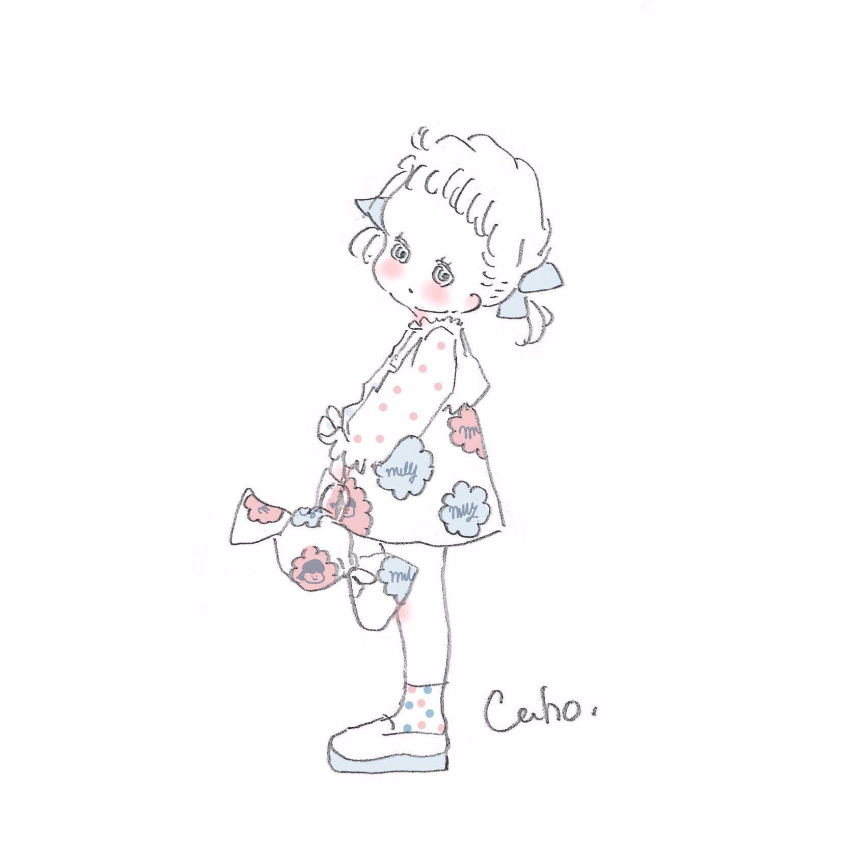 Caho On In 2019 服デザイン Caho イラスト イラスト かわいいイラスト