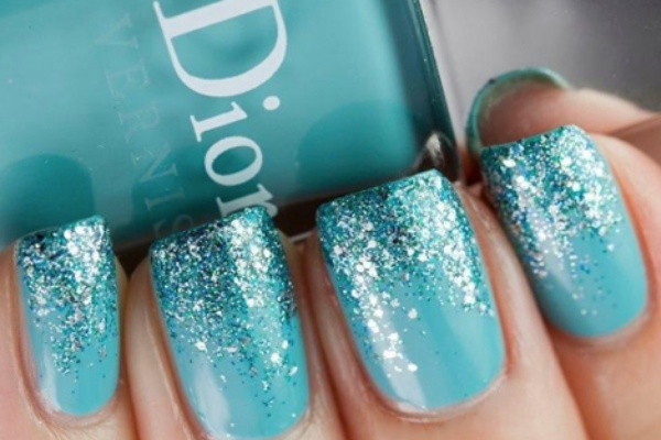 teal nail design ideas 2 glitter tips - Teal Nail Design Ideas 2 Glitter Tips Nails Pinterest Teal
