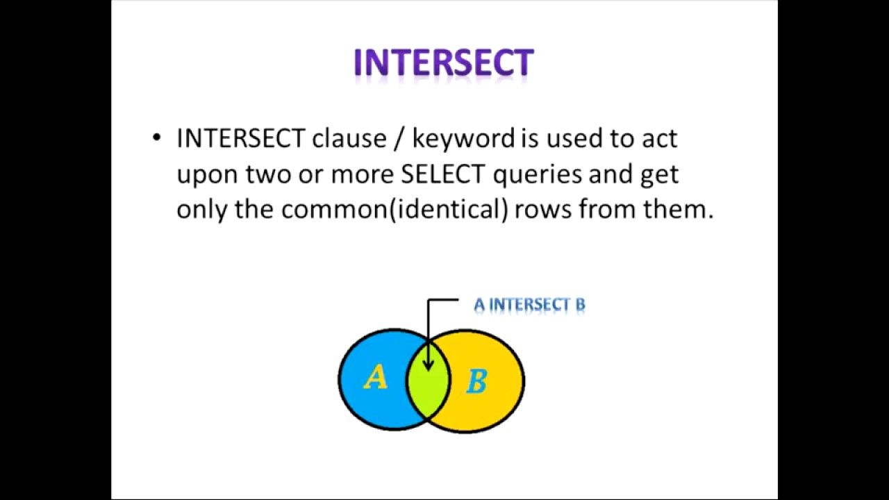 Sql intersect intersect vs inner join sql pinterest sql intersect intersect vs inner join baditri Images