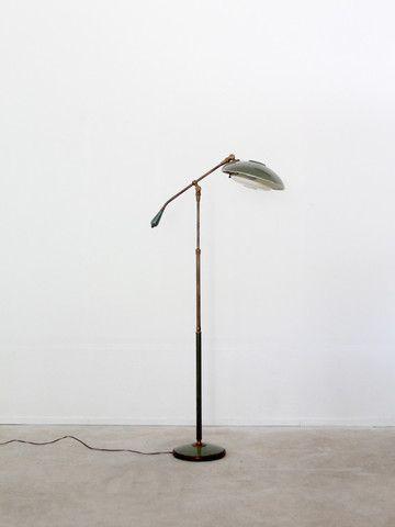 Antique Articulating Counter Balance Floor Lamp Floor Lamp Mission Furniture Vintage
