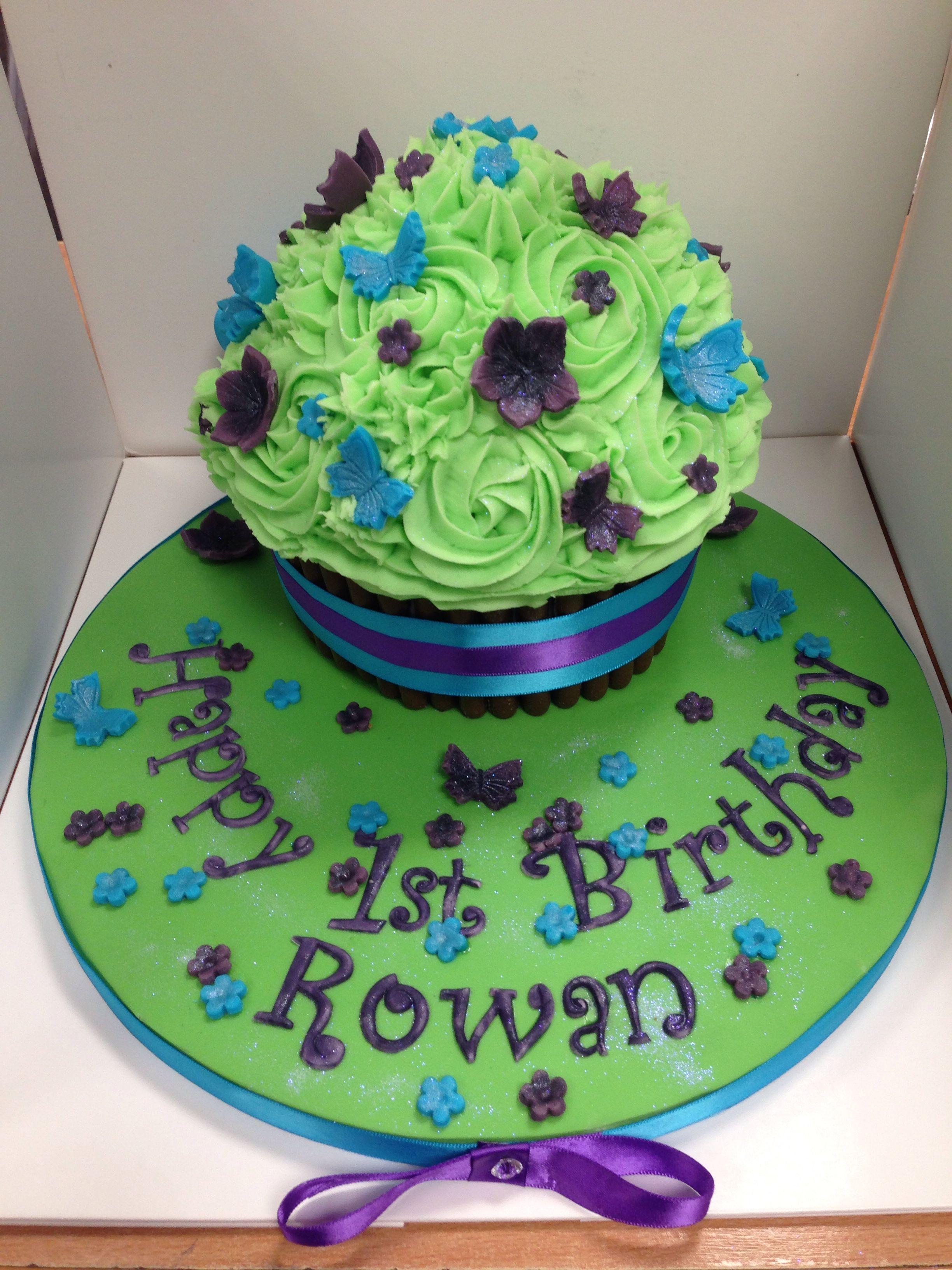 Gorgeous giant cupcake
