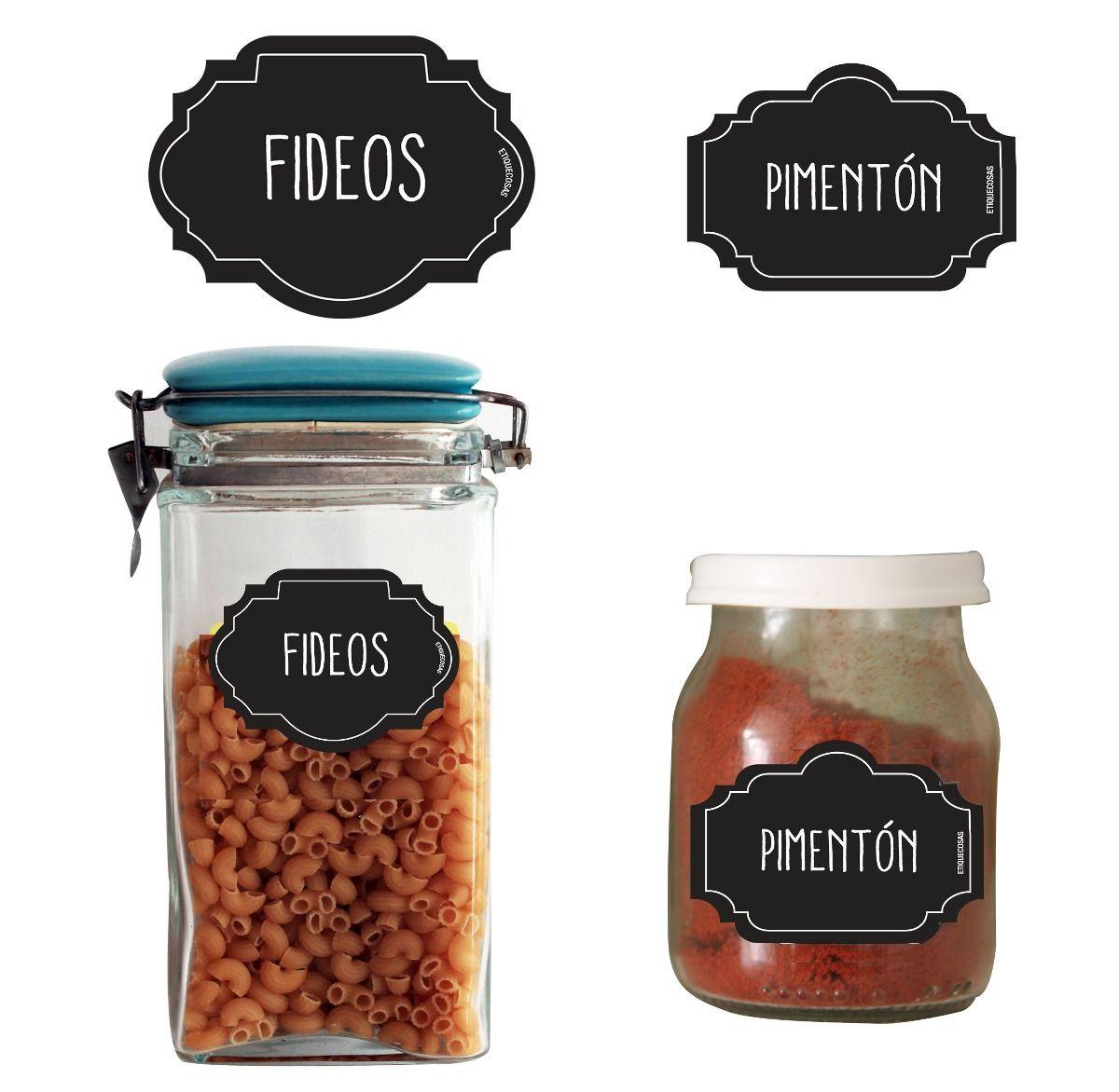 Etiquetas para frascos vidrio bazar elegis vos lo que for Bazar de cocina
