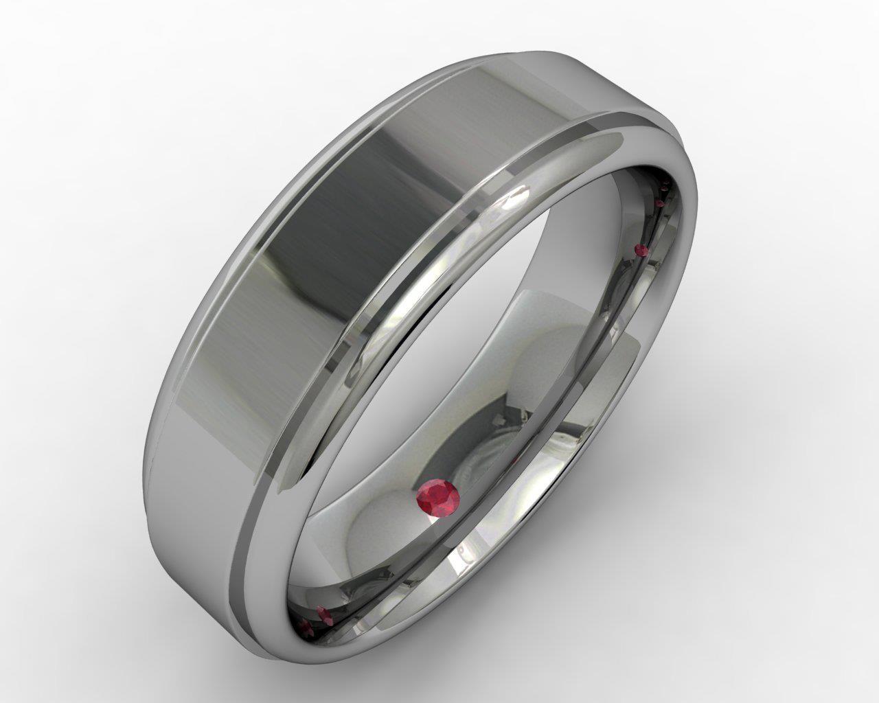 Custom Mens Wedding Bands.Men S Hidden Ruby Wedding Ring Imagesjewelers Customjewelry