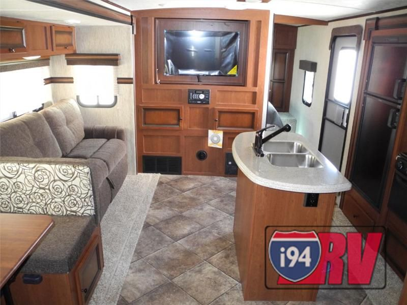 New 2014 Palomino Solaire 318Stbhk Bunkhouse Travel Trailer Camper Beauteous Travel Trailer With Outdoor Kitchen Design Inspiration